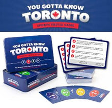 Load image into Gallery viewer, You Gotta Know Toronto sports trivia game