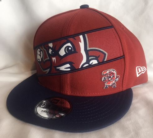New Era 950 Red Fighting Bacon Panel Cap