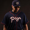 Lehigh Valley IronPigs Mens BP Navy Replica Cool Base Jersey