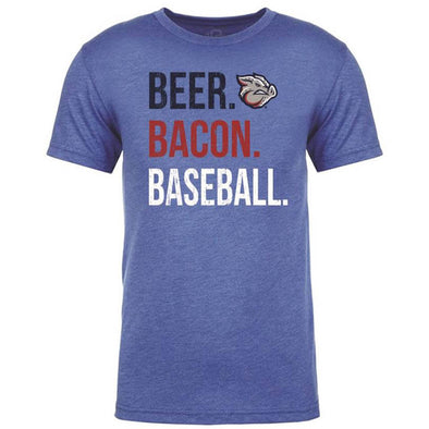 Beer Bacon Baseball Mens Tee