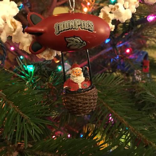 Lehigh Valley IronPigs Santa Blimp Ornament