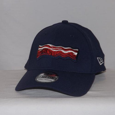 Lehigh Valley IronPigs 39Thirty Navy Bacon Flex Cap