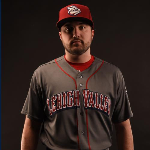 Lehigh Valley IronPigs Mens Road Gray Replica Cool Base Jersey