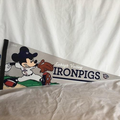 Lehigh Valley IronPigs Mickey Mouse Pennant
