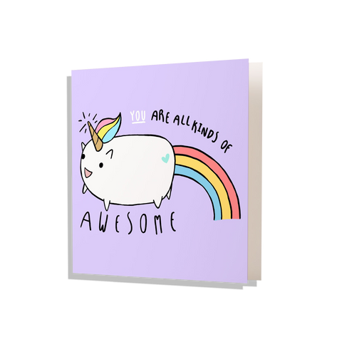 Awesome Unicorn Greeting Card