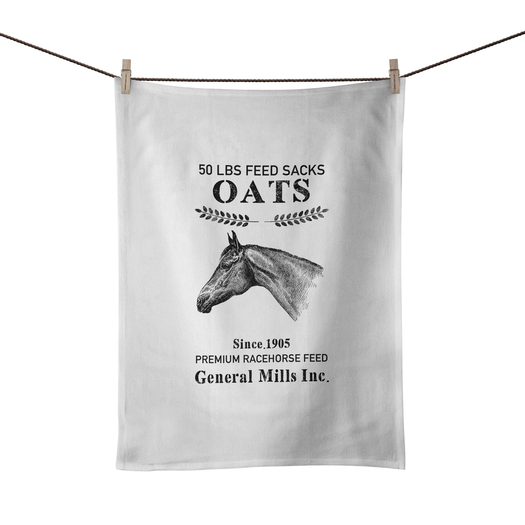 Vintage Feed Sack Tea Towel