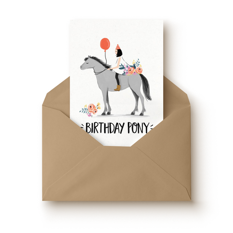 Birthday Pony Card