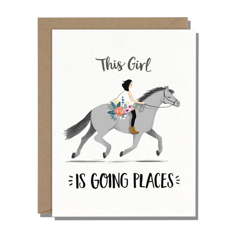 Going Places Horse Greeting Card