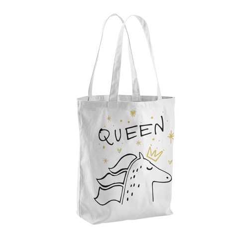 Queen Horse Canvas Tote