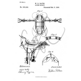 Saddle Patent Print
