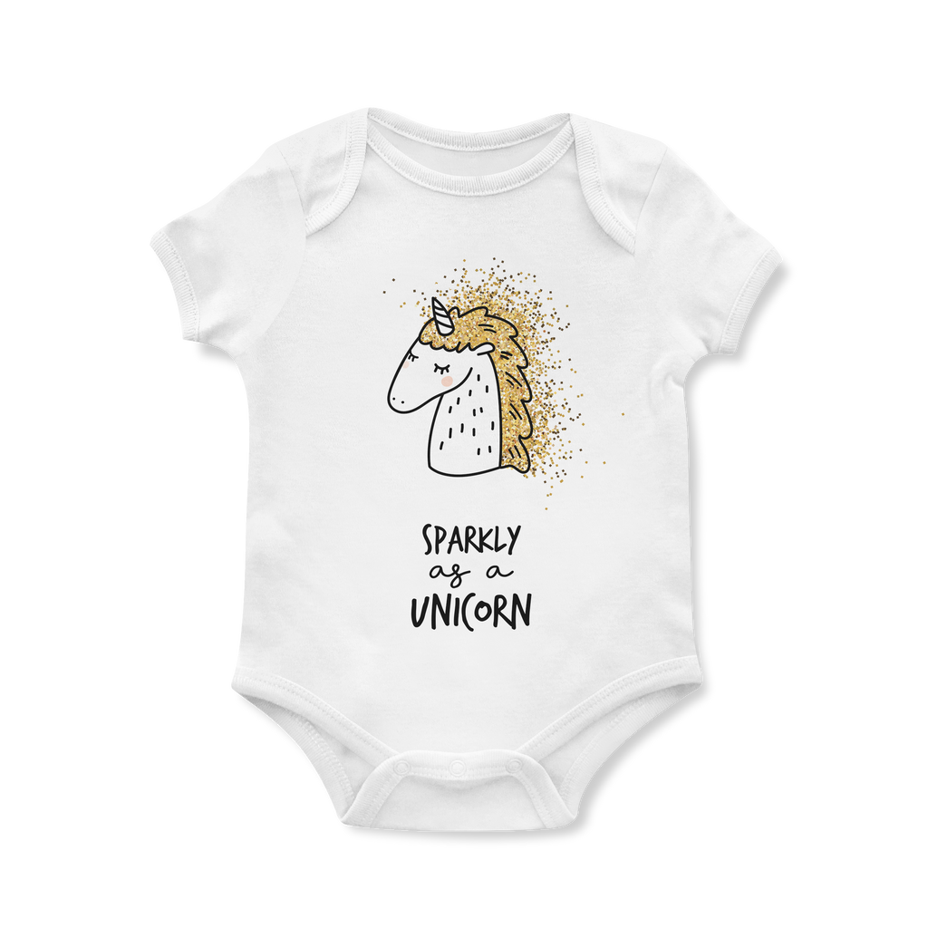 Sparkly As A Unicorn Baby Onesie