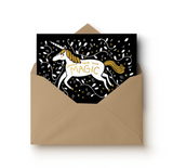 Gold Foil Unicorn Greeting Card