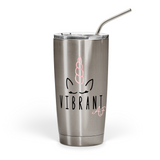 Vibrant AF Unicorn Stainless Steel Tumbler