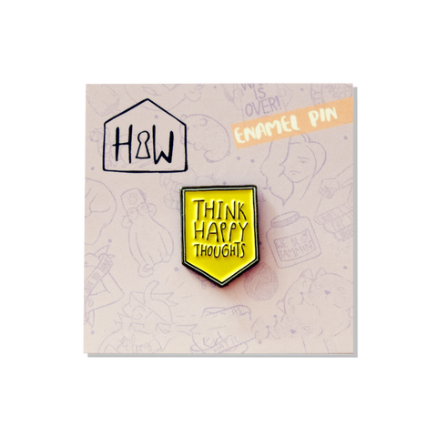Think Happy Thoughts Good Luck Pin