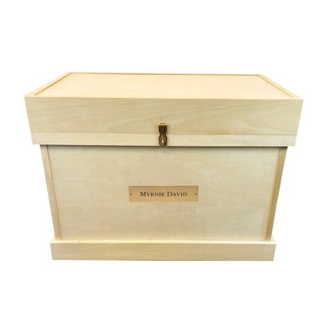 Unfinished Large Bandage Lid Tack Trunk