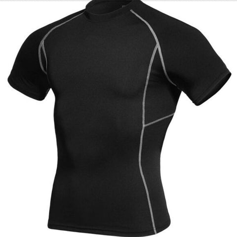 Men's Compression Under Base Layer Sports Wear Athletic Shirt S-3XL