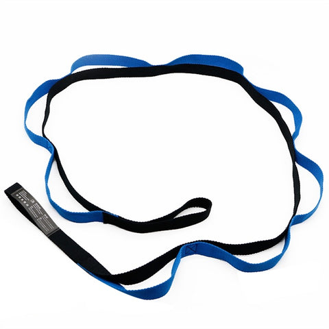 Stretching Strap Multi-loop Strap Improve Flexibility( Black and Blue)