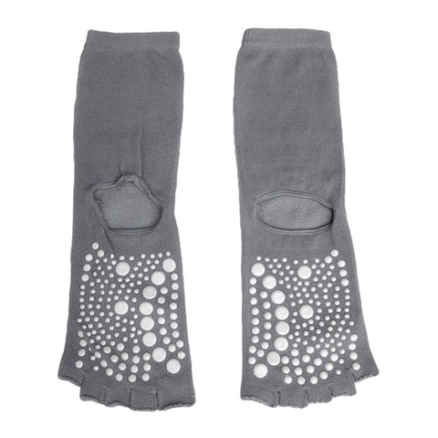 Women Yoga Socks Warm Non Slip Toeless Half Toe