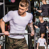 Men's Slim O Neck Short Sleeve Muscle Tee T-shirt