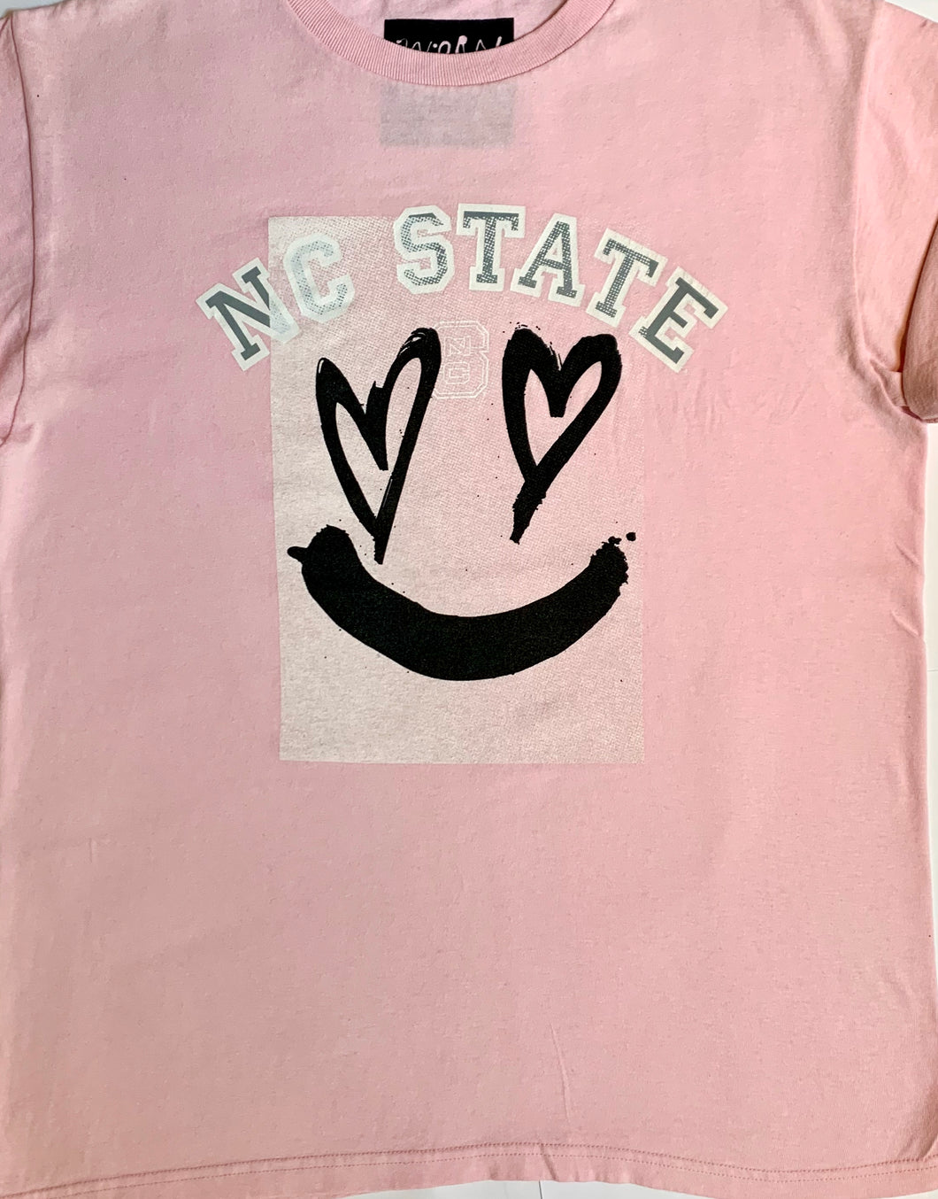 Pink NY State tee
