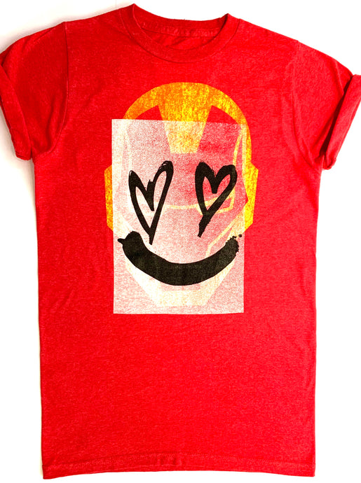 Red cotton tee