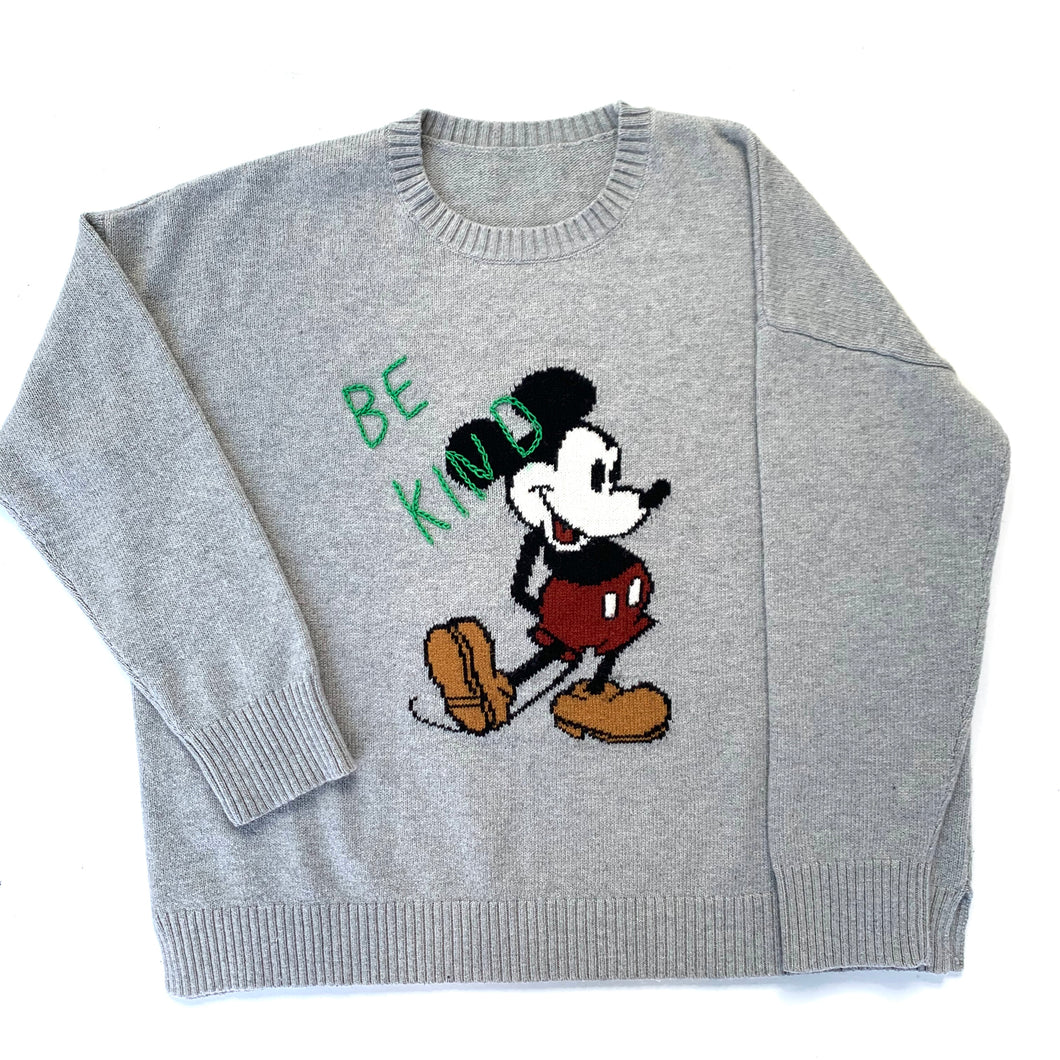 Hand embroidered Mickey Mouse Sweater
