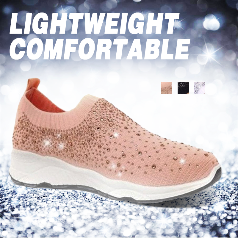 Women's Casual Mesh Yarn Diamonds Sneakers