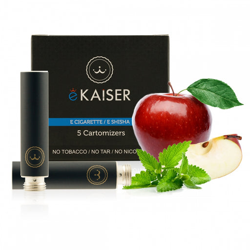Cigarette Cartomizers,5 Pack, Apple Mint Mix,eKaiser
