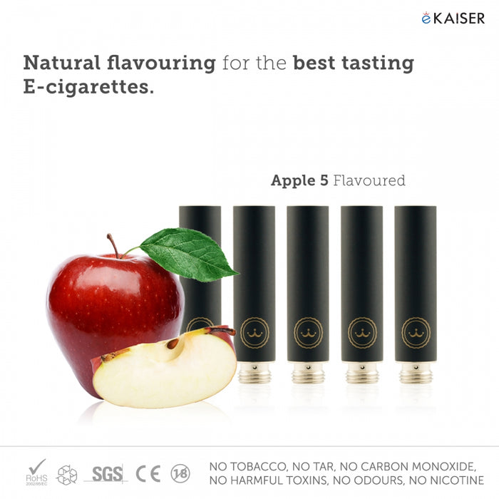 E Cigarette E Liquid 5 Pack Black Cartomizer *Berries Mix* (Cola, Chocolate, Pinacolada, Vanilla, Mint) - eKaiser - CIGEE Cigarette Cartomizers