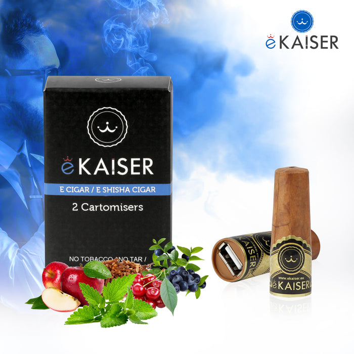eKaiser e-Cigar Cartomizer - Country Tobacco 0mg x 2 Pack | Cigee