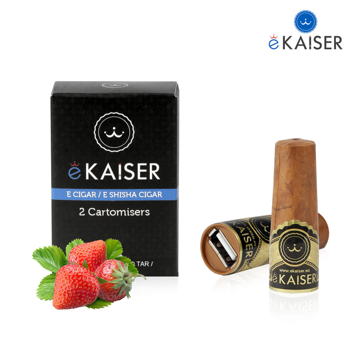 Cigar Cartomizers,2 Pack,Strawberry,ekaiser Strawberry