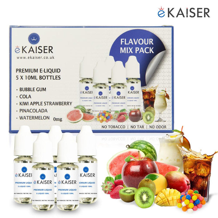 E-liquid,10ml,0mg,5 Pack,Flavour Pack,ekaiser