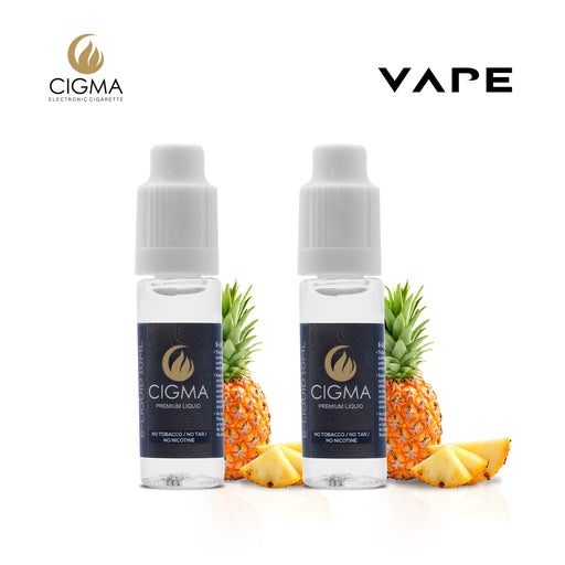 E-liquids,0mg,10ml,2 Pack,Cigma, Pineapple
