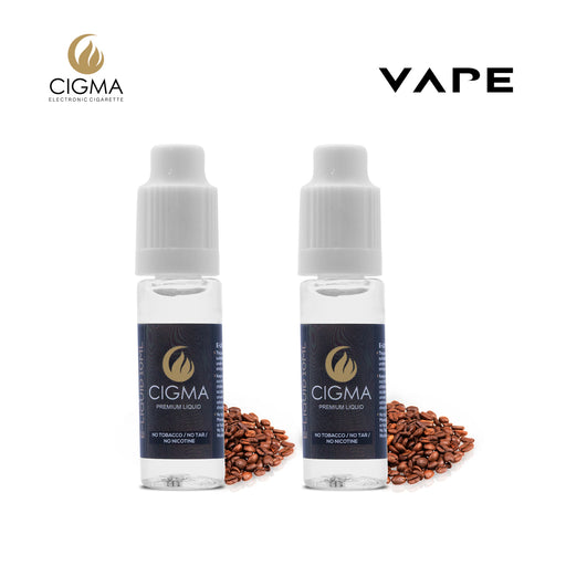 E-liquids,0mg,10ml,2 Pack,Cigma,Coffee