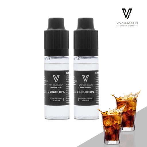 E-liquids,0mg,10ml,2 Pack,Vapoursson,Cola
