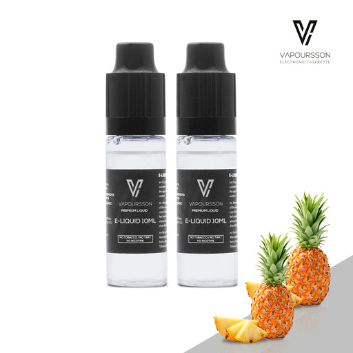E-liquids,0mg,10ml,2 Pack,Vapoursson,Pineapple