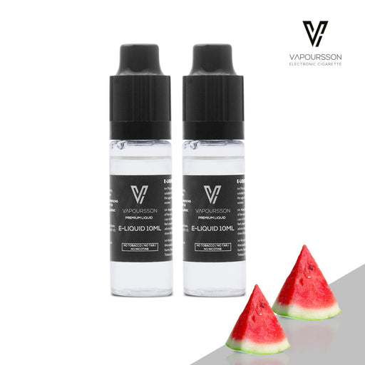 VAPOURSSON 2 X 10ml E Liquid | Watermelon | 2 Pack New Formula To Create A Super Strong Flavour with Only High Grade Ingredients  |v