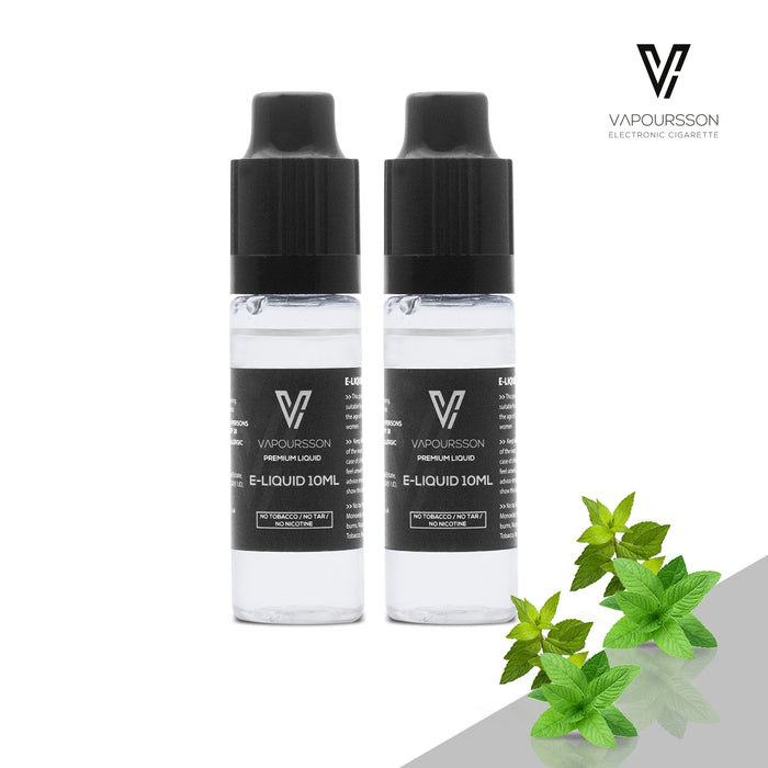 E-liquids,0mg,10ml,2 Pack,Vapoursson,Double Mint