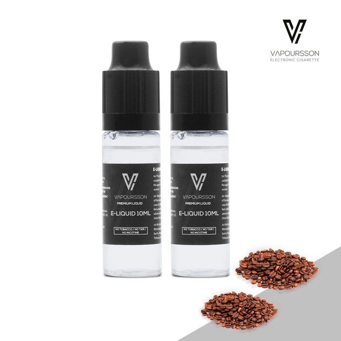 E-liquids,0mg,10ml,2 Pack,Vapoursson,Coffee