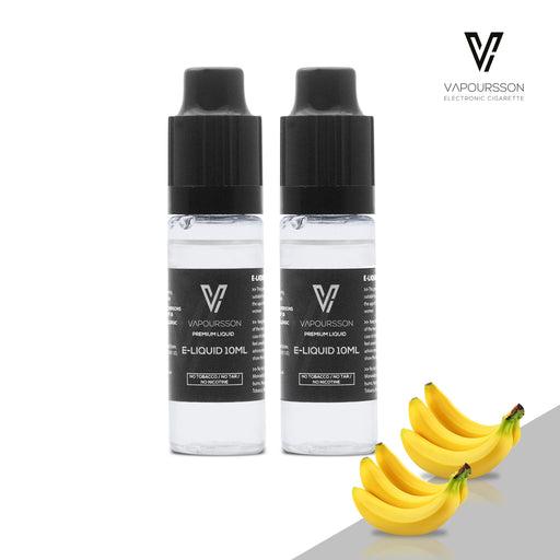 E-liquids,0mg,10ml,2 Pack,Vapoursson,Banana