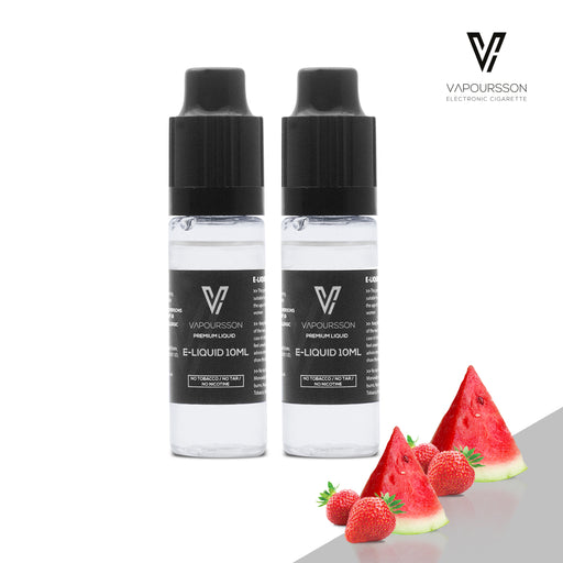 VAPOURSSON 2 X 10ml E Liquid | Strawberry + Watermelon |