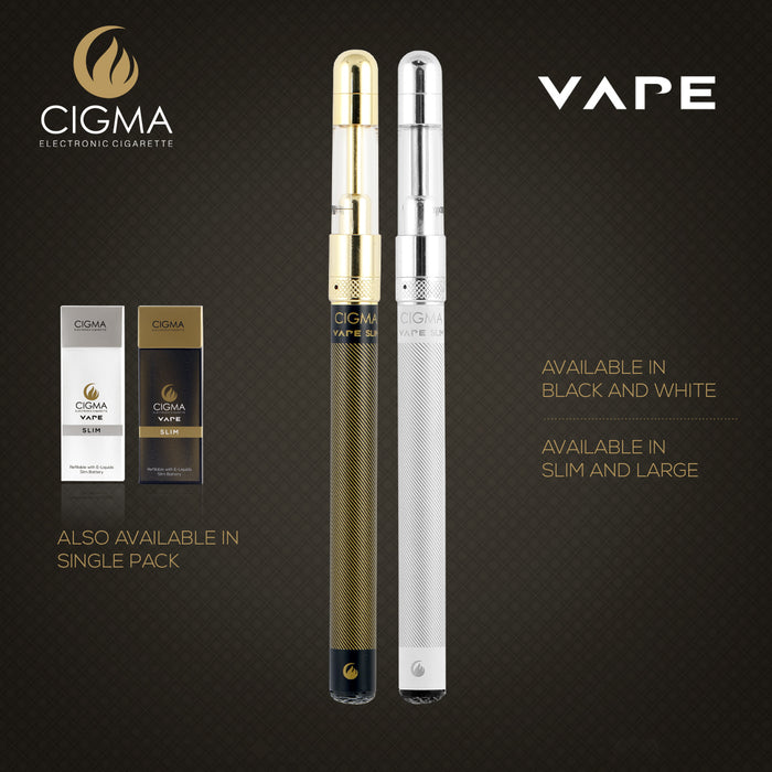 Cigma Chrome Vape Coil For Slim Battery | Refillable Nicotine Free Clearomizer | Cigee