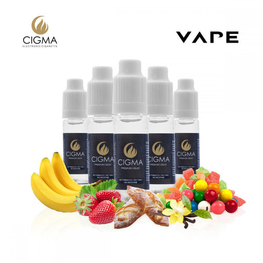 E-liquids,0mg,10ml,5 Pack,Cigma,Candy Store Mix
