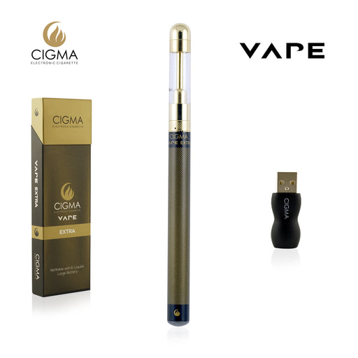 Cigma e-Cigarette Extra Black - Refillable & Rechargeable Starter Kit | Cigee
