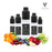 VAPOURSSON 5 X 10ml E Liquid Fruit Burst| Pearl Grape | Florid Blue | Orange Punch | Great King | Cherry