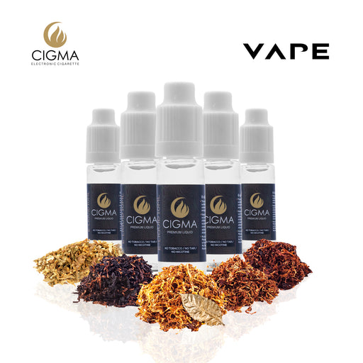 CIGMA 5 X 10ml E Liquid Worldwide Tobacco Mix | Gold Tobacco - Turkish Tobacco - Classic Tobacco - UK Mix Tobacco - U.S Tobacco