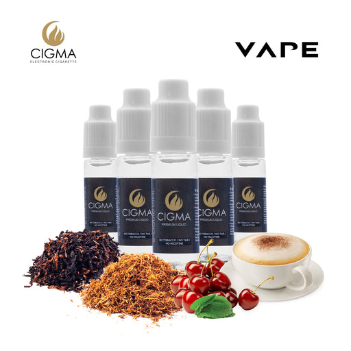 CIGMA 5 X 10ml E Liquid American Dream Blend | USA Mix | Western | Mint USA mix | Cappuccino | Cherry Menthol