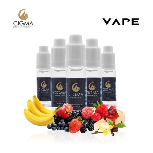 E-liquids,0mg,10ml,5 Pack,Cigma,Sweet Desire Mix