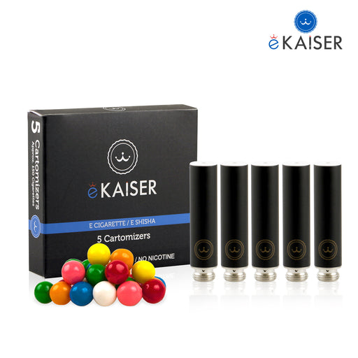 Cigarette Cartomizers,5 Pack,Bubble Gum,eKaiser