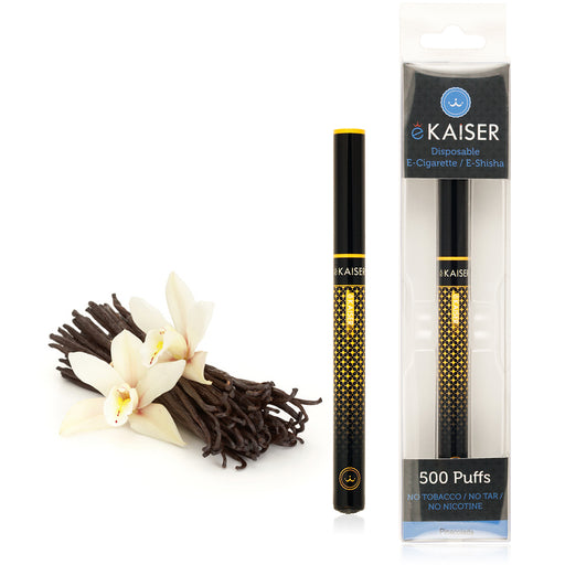 Electronic Cigarette *Vanilla Flavour* eKaiser E shisha Disposable 500 PUFFS Eshisha - Soft Tip